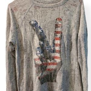 Lauren Moshi Vintage American Peace sweater